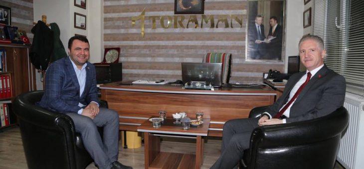 Gaziantep'e Vali Olarak Atanan Davut Gül 'ün Murat Toraman'a Veda Ziyareti